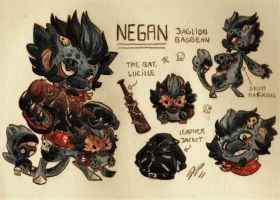 Negan Ref. Sheet [Commission] by Baraayas