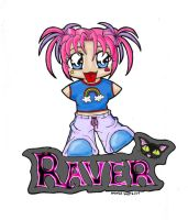Chibi Raver: color by Leara