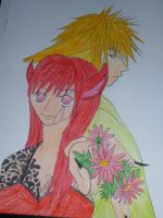 Fuun and Fox (Flowers) by VeroPiano