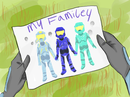 blue team family by animeloverFTW
