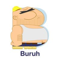 ABCDraw: B is for Buruh by adifitri