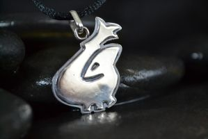 Lugia Sould SilverPendant by Silverthink