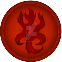 Flame Medallion (fleshed) by redfredrick