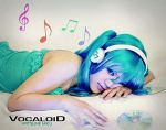 listening to music cinemagraph by norumi