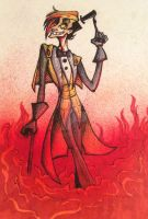 Bill Cipher as a human by HelavisKrew