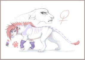 Sayda-lion character Commission by Chipo-H0P3