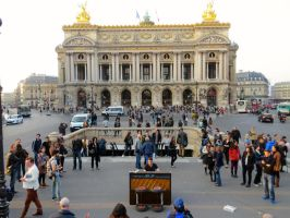 Busking the National Opera House Paris France by thefusa