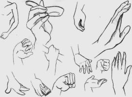 Manga Hands Study by MizMaxter