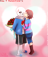 Undertale - Frans Week - Day 7 - Valentine's by WolfKIce