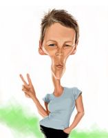 Jamie Lee Curtis Caricature by DoodleArtStudios
