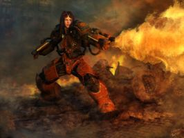 Starcraft2 Firebat by Giova22