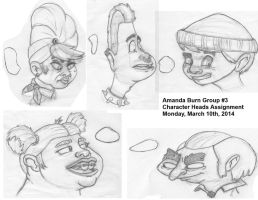 Character Heads Assignment by Manda-of-the-6