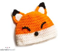 fox baby hat by adorablykawaii