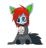 Renai and an old plush by bambous