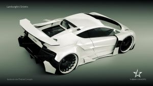 Lamborghini Sinistro on Turbine rims new design by mcmercslr