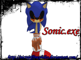 MMD Sonic.exe by NicteJeffMephiles