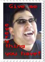 Markiplier Vampire Stamp by SteffieNeko