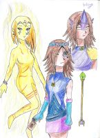 Saori And Astrea (OCs for Yu gi oh Zexal) by Grifessa