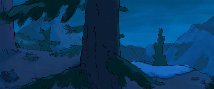 Nwain - Page 3 Panel 3 Background by rillani
