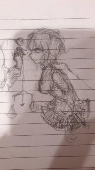 Gory doodle by CreamySuicider