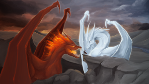 A game of fire and ice by Jinxed-blacktail