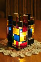 Candle lamp - cubism :) by bobidoo