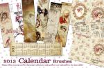 2013 Calendar brushes by auRoraBor