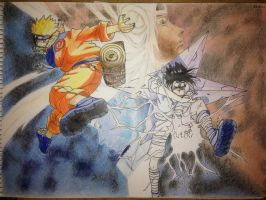 NARUTO and SASUKE... ...again... by Orenji--kun