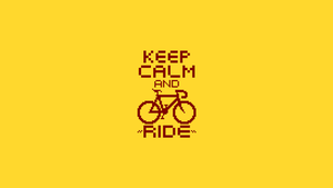 Keep Calm And Ride Pixel Wallpaper by AloneAgainstPixels