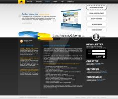 techSolutions webdesign study2 by vinzdelacalzada