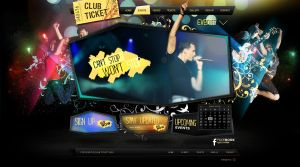 Club Ticket Website Design by Dexign-Oxigen
