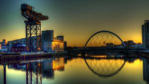 The Clyde Arc, Glasgow by grolschmonster