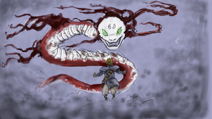 Face Au Serpent / Facing the Snake by awildawn