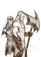 Sauron And Morgoth by SAM---tan
