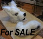White Wolf Fursuit Head and Tail FOR SALE~ by GoldenCat22