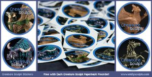 Creature Sculpt Stickers!! by emilySculpts