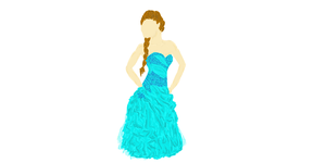 Dress drawing by cocobeanc