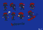 Weavile Stickers by EdvinDraw