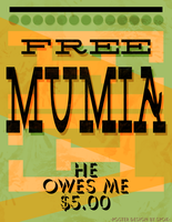 FREE MUMIA POSTER by spawker