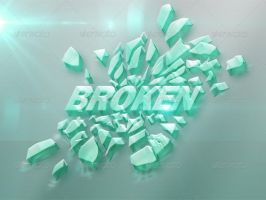 3D text effect - Simple Green Glass by MRS401