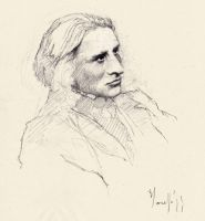Sketching Liszt by SILENTJUSTICE