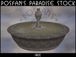 Pond 002 Round with Fountain by poserfan-stock