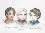 OCs Three Main Characters of Colours of the Dark by Llttle-Lark
