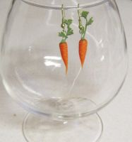 Tiny Carrot Earrings by lily-inabottle