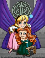 Eilonwy and Merida Class Photo by MaryBellamy