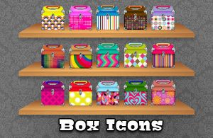 Pattern Box Icons by princessang2644