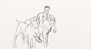 Alessandro and his dogs by ManixPanix