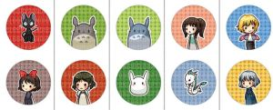 Derpy Studio Ghibli Buttons by sleepypandie
