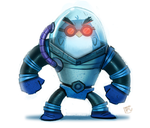 Day 730# 2 YEARS OF DAILY PAINTING (Mr. Freeze RD) by Cryptid-Creations