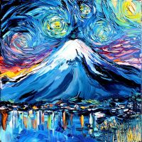 van Gogh Never Saw Mount Fuji by sagittariusgallery